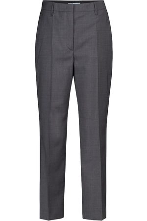 Prada Women Formal Trousers - High-rise virgin wool slim pants