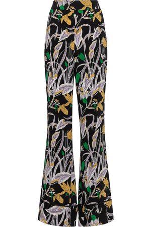 Diane von Furstenberg Women Trousers - Federia high-rise floral pants