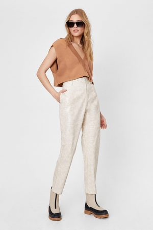 NASTY GAL Womens Take the Lead Croc Faux Leather trousers - - 6