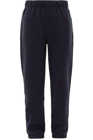 Raey Elasticated-waist Cotton-blend Track Pants - Womens - Navy