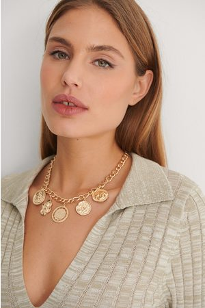 NA-KD Big Coin Chain Necklace - Gold
