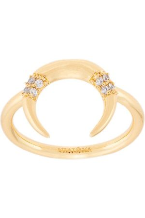 Nialaya Jewelry Women Rings - Half-moon appliqué ring