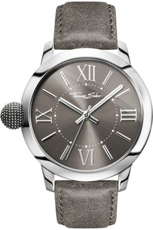 Thomas Sabo Men's watch REBEL WITH KARMA grey WA0294-273-210-46 MM