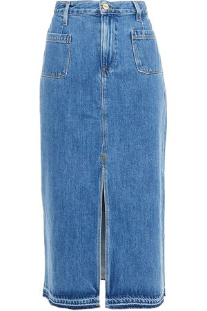 FRAME Women Midi Skirts - Woman Denim Midi Skirt Mid Denim Size 26