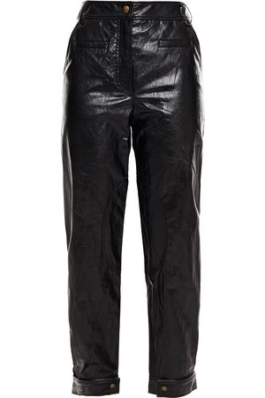 REJINA PYO Woman Leon Faux Crinkled-leather Tapered Pants Size 10