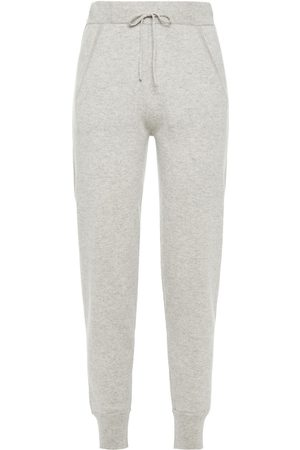 N.PEAL Women Trousers - Woman Mélange Cashmere Track Pants Stone Size M