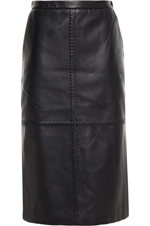 Altuzarra Women Leather Skirts - Woman Paneled Leather Skirt Size 36