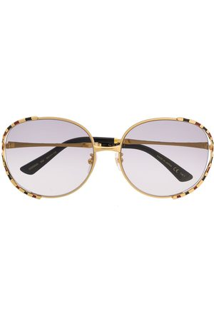 Gucci Sunglasses - Round-frame striped sunglasses
