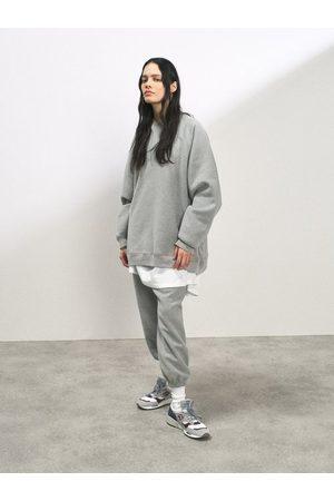 Raey Organic And Recycled-yarn Cotton-blend Sweatshirt - Womens - Marl