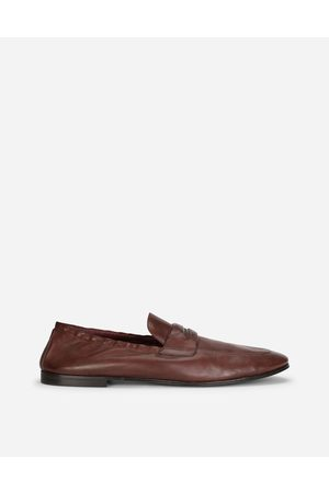 Dolce & Gabbana Men Loafers - Collection - CALFSKIN LOAFERS WITH BRANDED TAG male 39