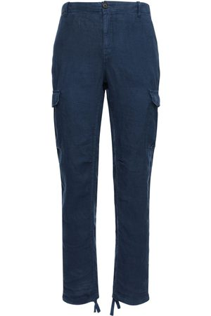 Wax London Men Trousers - Brick Linen Cargo Pants