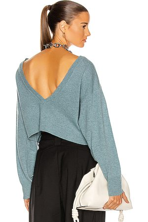 REMAIN Valcyrie Open Back Knit Sweater in Lead