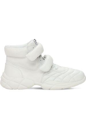 Miu Miu 20mm Leather High-top Sneakers