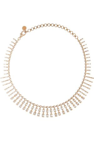 Shay Women Necklaces - Rose Gold and Diamond Sticks & Stones Dot-Dash Necklace