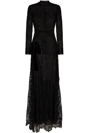 TOM FORD Women Evening Dresses - Floral-lace long-sleeve gown