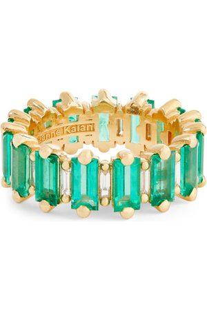 Suzanne Kalan Yellow , Diamond and Emerald Fireworks Ring (Size 7)