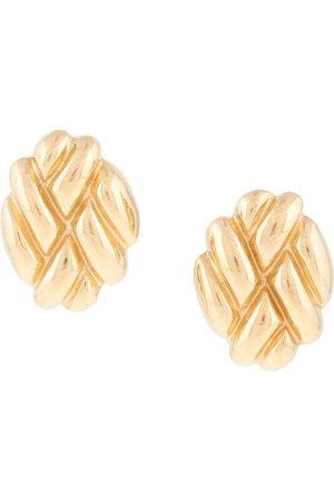 Givenchy Pre-Owned Women Earrings - 1980s embossed oval earrings