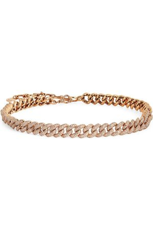 Shay Rose Gold and Diamond Essentials Pavé Link Necklace