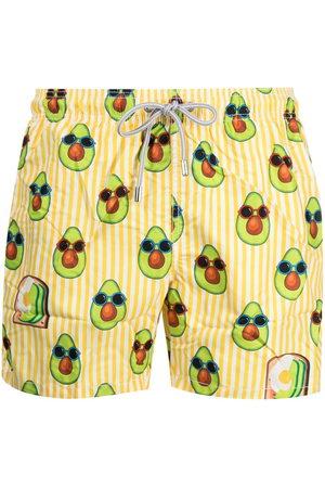 MC2 SAINT BARTH Avocado print swim shorts