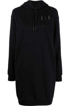 McQ Women Printed Dresses - Logo print hooded dress