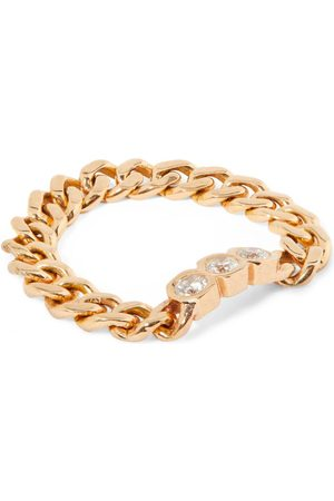 Shay Women Rings - Rose and Diamond Links Ring (Size 7)