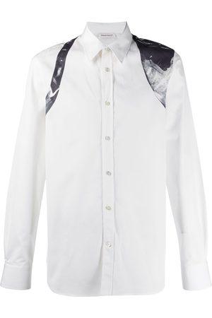 Alexander McQueen Abstract print harness detail shirt