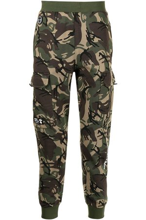 AAPE BY A BATHING APE Camouflage print cargo track trousers