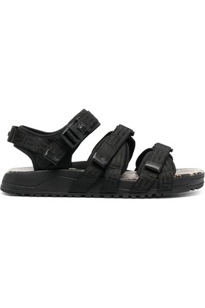 VERSACE Graecia snake-print leather sandals