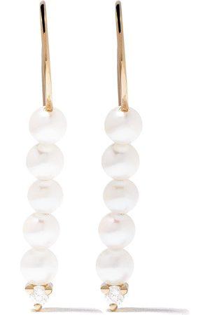 Mizuki 14kt Sea of Beauty diamond akoya pearls earrings