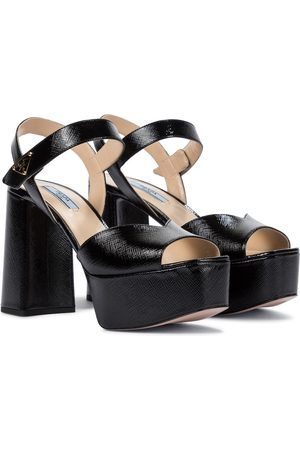 Prada Saffiano leather platform sandals