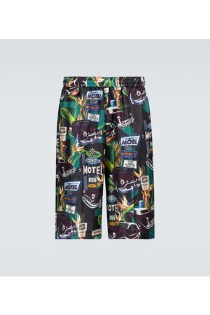 Givenchy Mulberry silk printed shorts