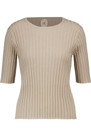 Jardin des Orangers Ribbed cotton and silk top