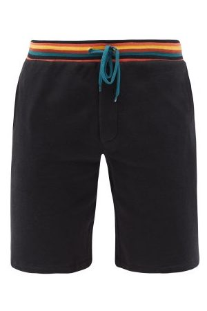 Paul Smith Artist-stripe Cotton-jersey Pyjama Shorts - Mens