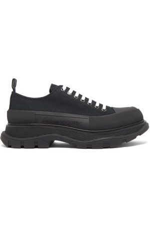 Alexander McQueen Tread Slick Chunky-sole Canvas Trainers - Mens