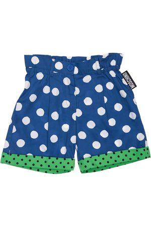 Moschino All Over Print Cotton Poplin Shorts