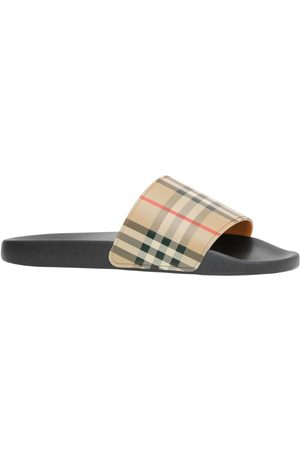 Burberry Vintage Check print slides