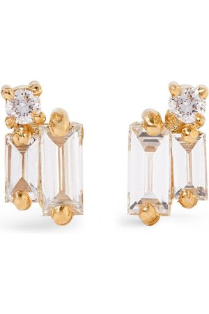 Suzanne Kalan Yellow and Diamond Fireworks Cluster Earrings