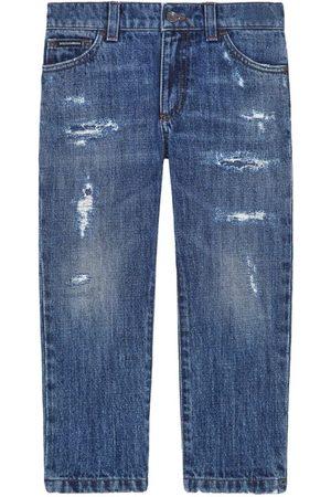 Dolce & Gabbana Kids Distressed Five-Pocket Jeans (8-12 Years)