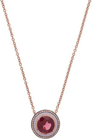 SELIM MOUZANNAR Diamond, Rhodolite & 18kt Rose- Necklace - Womens - Rose