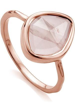Monica Vinader Women Rings - Siren Small Nugget Stacking Rose Quartz ring