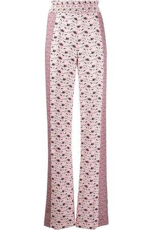 Prada Women Wide Leg Trousers - Paisley-print wide-leg trousers