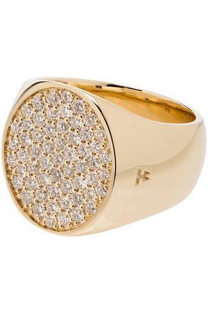 TOM WOOD Round diamond pinkie ring