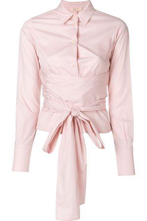 ROMEO GIGLI Women Tops - Belted waist shirt