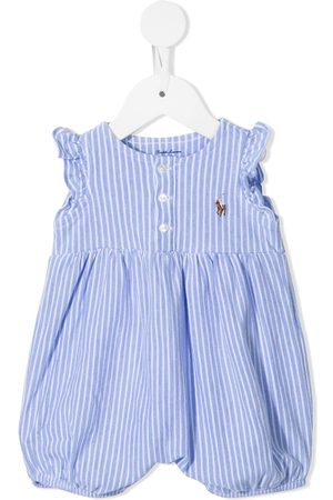 Ralph Lauren Kids Baby Rompers - Striped embroidered logo romper