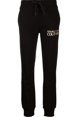 VERSACE Logo print cotton track trousers