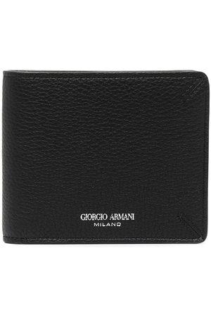 Giorgio Armani Engraved-logo bifold wallet