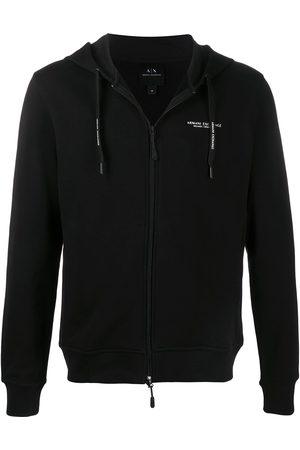Armani Logo-print zip-front hoodie