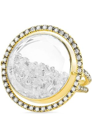 Moritz Glik 18kt yellow movable halo diamond shaker ring