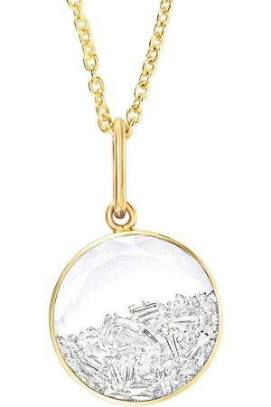 Moritz Glik 18kt yellow gold round diamond shaker pendant necklace