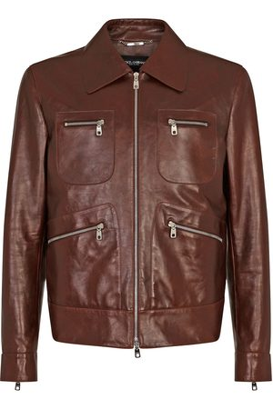 Dolce & Gabbana Multi-pocket leather jacket
